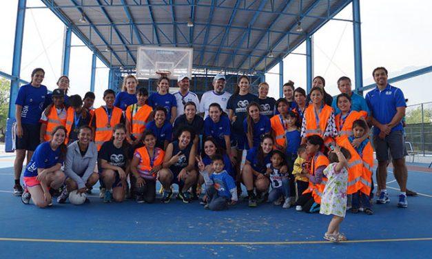 Jugadoras del Tec Guadalajara y Monterrey hicieron labor social