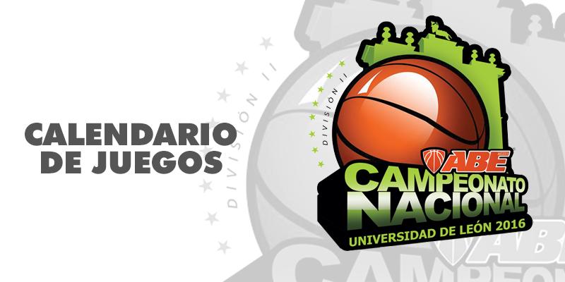 Calendario de Juegos del Campeonato Nacional León 2016