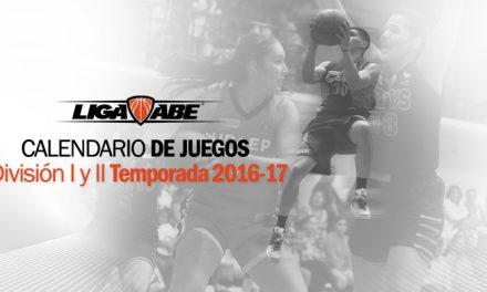 Calendarios de Juegos Temporada 2016-17