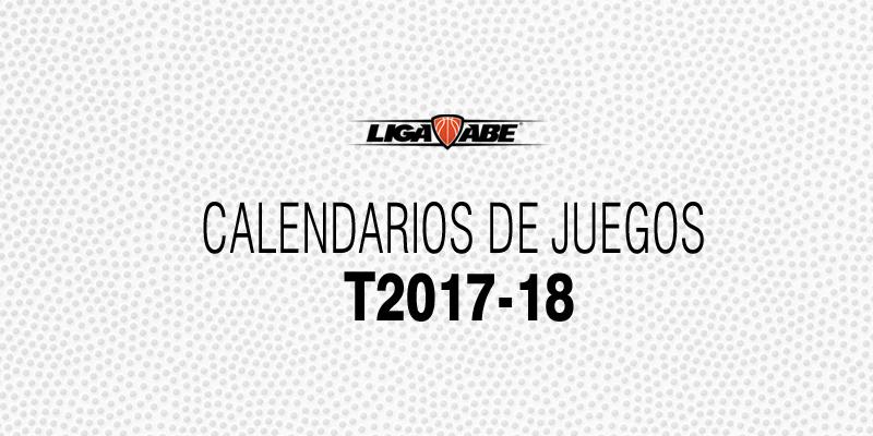 Calendarios de Juegos Temporada 2017-18