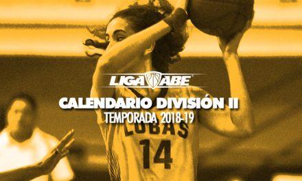 Calendario División II Femenil y Varonil Temporada 2018-19